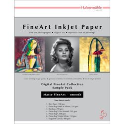Hahnemuhle Matte Fine Art Smooth Archival Inkjet Paper Sample Pack, 8.5x11