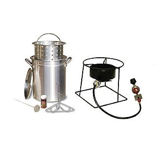 29 Qt. Turkey Fryer with Timer, Basket and Cajun Seasoning by King Kooker