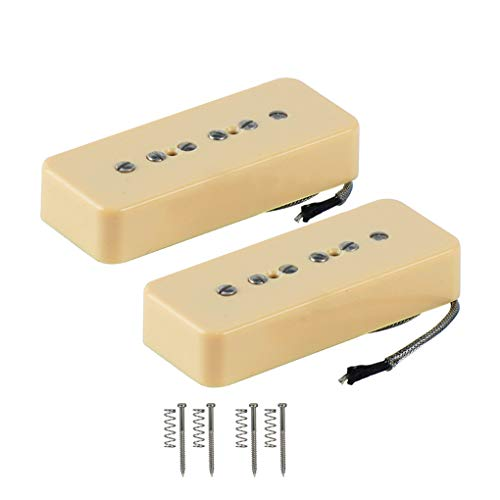 FLEOR Alnico V Single Coil Soapbar P90 Neck/Bridge Pickup (Cream)
