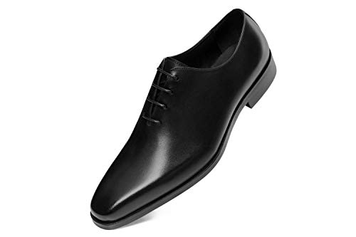 GIFENNSE Men's Leather Oxford Dress Shoes Black Formal Shoes Dress Shoes Men (8.5US/Black)