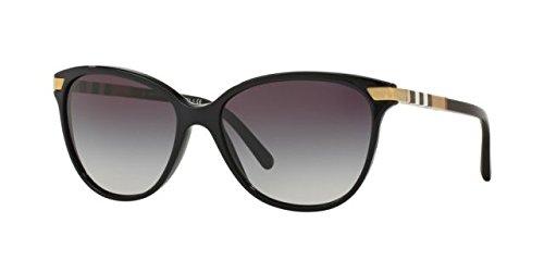 Burberry Women's BE4216F Sunglasses Black/Gray Gradient 57mm Burberry Womens Sunglasses