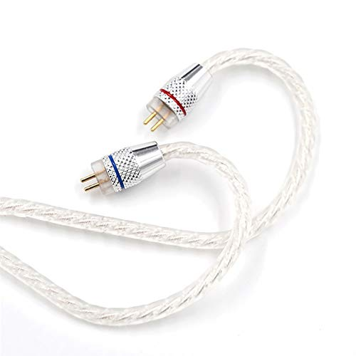 - 106sasuppg Silver Plated Noise Reduction HiFi 3.5mm Plug Earphone Cable for CCA-C10/C10