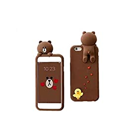 [CaserBay] iPhone 8 Plus/ iPhone 7 Plus (5.5″) Phone Case 3D Cute Animal Series Cartoon Kawaii Soft Silicone Rubber Case Cover