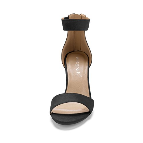 Black Ankle Sandals K Allegra Strap Women Tassel wSYxqRt