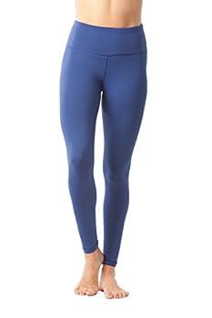90 Degree By Reflex High Waist Power Flex Legging – Tummy Control - Black & Winter Blue 2 Pack - Small 4