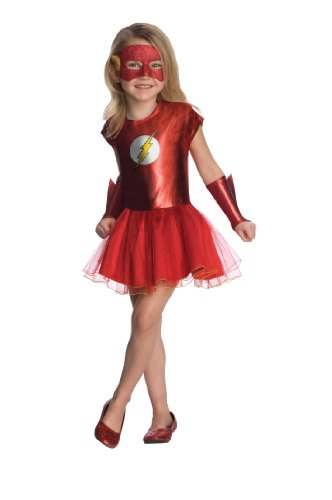 Tutu Robin Girls Costumes (Justice League Child's Flash Tutu Dress - Small)