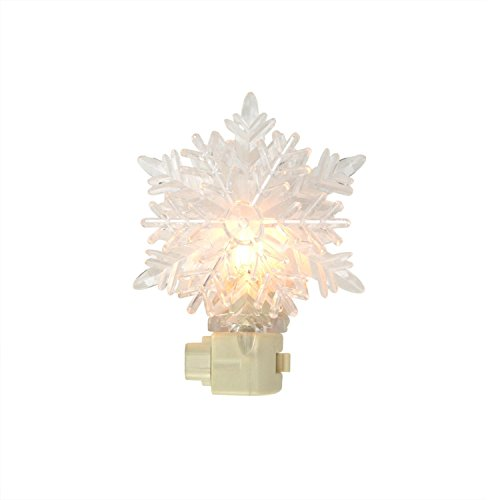 inter Decorative Clear Snowflake Christmas Night Light (Night Lights Snow)