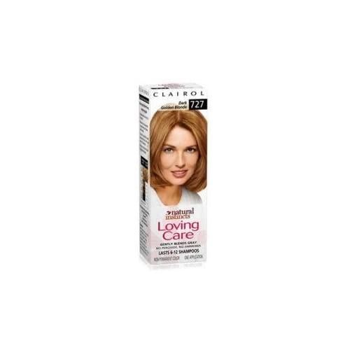 Clairol Natural Instincts Loving Care Dark Golden Blonde 727 Hair Color free shipping