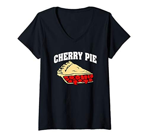 Womens Cherry Pie Halloween Costume V-Neck -