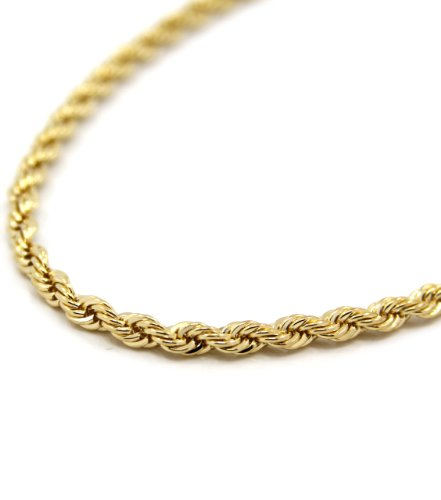 Yellow Gold 5mm Rope Chain - 3