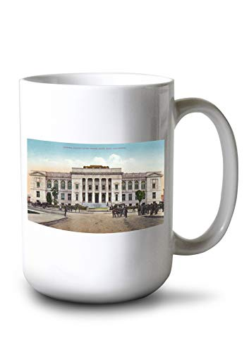 Lantern Press Santa Rosa, California - Exterior View of The Sonoma County Court House (15oz White Ceramic Mug) ()