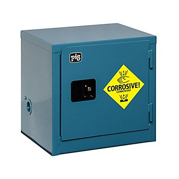 New Pig CAB750 18-Gauge Steel Corrosives Safety Cabinet with Manual Close Door, 6 Gallon Capacity, 23