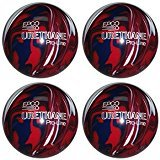 EPCO Candlepin Bowling Ball- Urethane Pro-Line - Dark Red, Royal & White (4 1/2 inch- 2lbs. 7oz.)