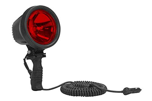 15 Million Candlepower - HID Handheld Spotlight - IP67 - Red Lens - 2500' Long x 80' Wide Spot Beam