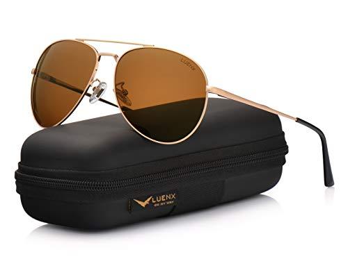 marron Lunettes Protection 60mm Homme 14 UV Soleil 400 LUENX de 1xvaqAwR