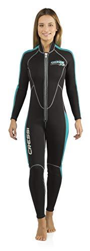 Cressi Lido Long 2mm Lady, Black/Azure, XXL (Ladies Wet Suits)