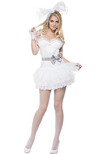 [Smiffy's Women's Fever 80's Chick Costume, Lace Tutu Dress, Retro, Fever, Size 14-16, 22817] (1980s Dress)