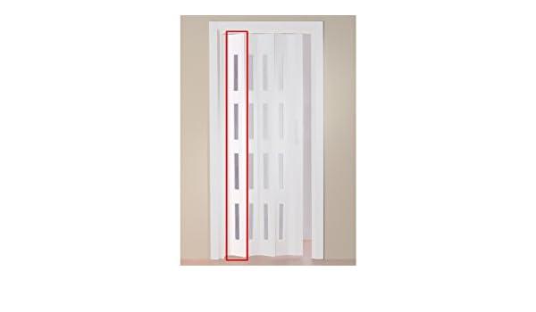 Baumarkt Direkt Lamas para ampliar el ancho de la puerta plegable Luciana – altura recortable, color blanco (con ventanas): Amazon.es: Bricolaje y herramientas