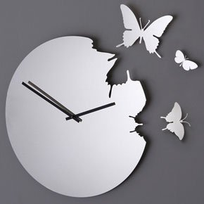 diamantini domeniconi butterfly clock. Black Bedroom Furniture Sets. Home Design Ideas