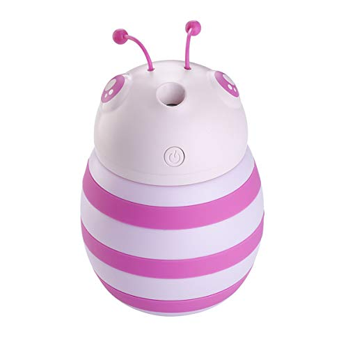 Multi-diffuser diffuser difussers Humidifier Humidifiers cooler vaporiser Little bee colorful atmosphere lights USB car pink by Multi-diffuser