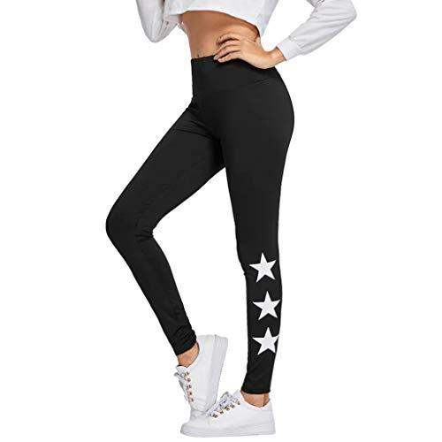 Sttech1 Women Causal Yoga Pants Premium Print Workout Leggings Tights Trouser Black