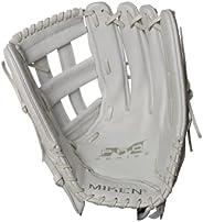 Miken PRO Series Fielding Glove 15 Inch, White, Right Throw (Worn on Left Hand)