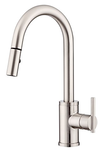 Danze D453558SS Parma Trim Line Single Handle Pull-Down Kitchen Faucet with SnapBack Retraction, Stainless Steel