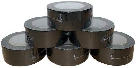Packitsafe 1 cinta adhesiva negra Gaffa de 48 mm x 48 m cinta adhesiva fuerte de embalaje.