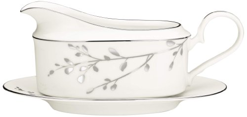 Noritake Birchwood 2-Piece Gravy Boat with Stand (Wholesale Gift Baskets Dropship)