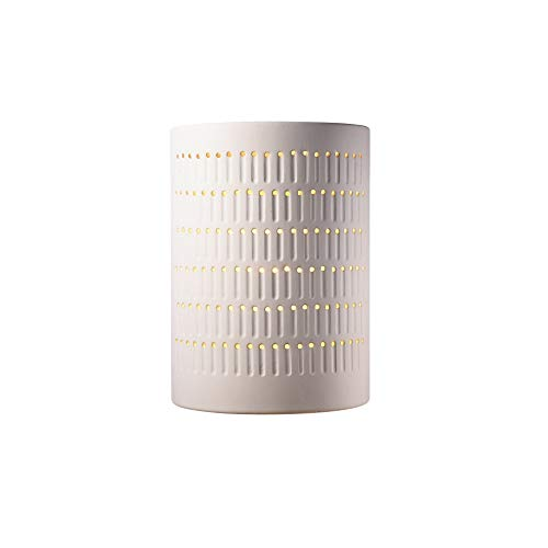 Justice Design Group Ambiance Bisque Outdoor Large Cactus Cylinder Wall -