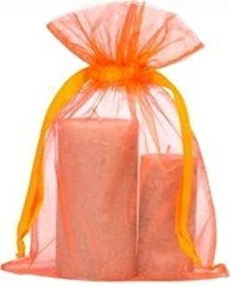 100 Las grandes bolsa de organza Tamaño 20x28cm orange ...