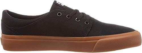 DC Men's Trase TX Skate Shoe, Black/Gum, 10.5 D M US