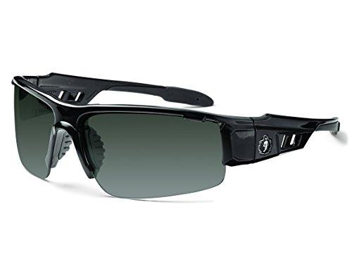Skullerz Dagr Safety Sunglasses - Black Frame, Smoke - Ballistic Sunglasses Military