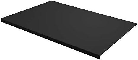Eglooh - Talia - Gewinkelte Schreibtischunterlage Leder Weiß cm 50x35 - Modernes Design, Innenseele aus Stahl mit L-geformtem Vorderprofil und rutschfester Boden - Made in Italy