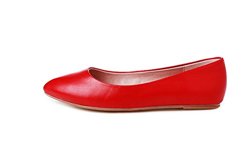 1TO9  Mms03271, Sandales Compensées femme - Rouge - Red,
