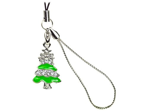Cellet Christmas Phone Charm - With Sparkling Stones Cellet Christmas Phone Charm - Christmas Tree W/ Sparkling White (Cellet Christmas Phone Charm)