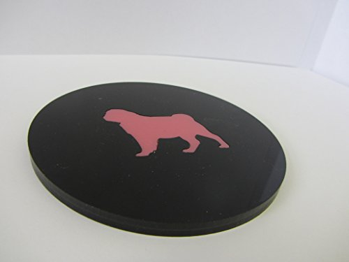 Tea Coaster Tea Time with Pug – Handmade in our Brooklyn Workshop of Shiny Lucite for all pug and 5 O'Clock fans!