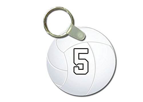 Authentic Duke Jersey - TYD Designs Key Chain Sports Volleyball Customizable 2 Inch Metal and Fully Assembled Ring with Any Team Jersey Player Number 5