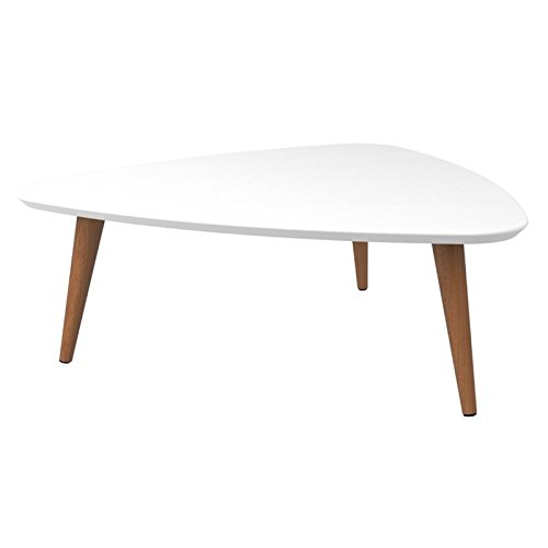 Manhattan Comfort 89251 Utopia Low Triangle Coffee Table White Gloss
