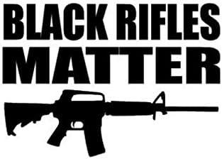 Adhesivo de vinilo negro con diseño de rifles | Coches, camiones, furgonetas, paredes, ordenadores portátiles| negro, 5.5 x 3.9 pulgadas | DUC948