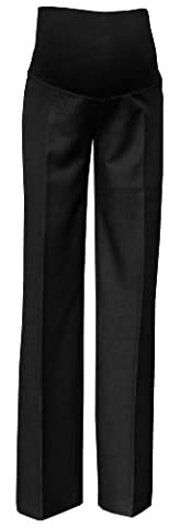 Zeta Ville - Womens Maternity Smart Pants Tailored Work Trousers US 6-18 - 246c (Anthracite Black, 6)