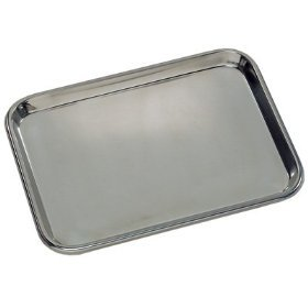 - Grafco 3261 Flat Type Instrument Tray, Stainless Steel, 13-5/8