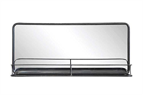 Creative Co-op Rectangle Metal Wall Mirror with Shelf, Double Vanity, -