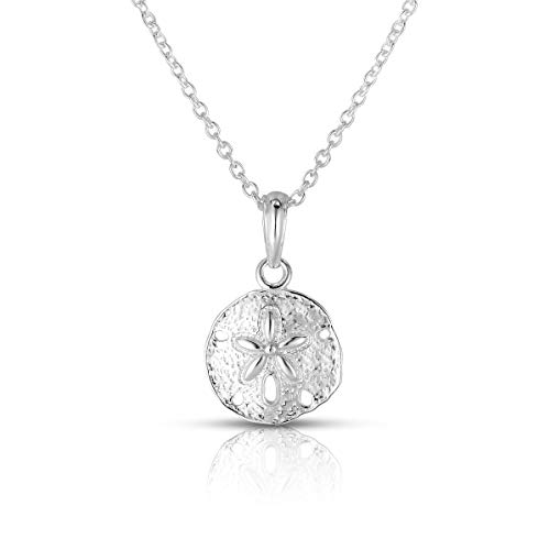 - Unique Royal Jewelry A Solid Sterling Silver Sand Dollar Sea Urchin Pendant and 18