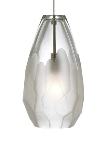 RLFZ Briolette - One Light Monorail Pendant, Antique Bronze Finish with Frost Glass ()