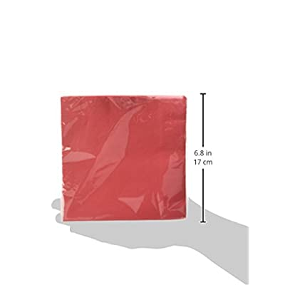 Amscan 2-Ply Luncheon Napkins 50 Ct.   Party Tableware, Apple Red, 6.6