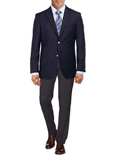 - Salvatore Exte Men's 2 Button Suit Separate Jacket Sport Coat Blazer (40 Long US / 50L EU, Navy)