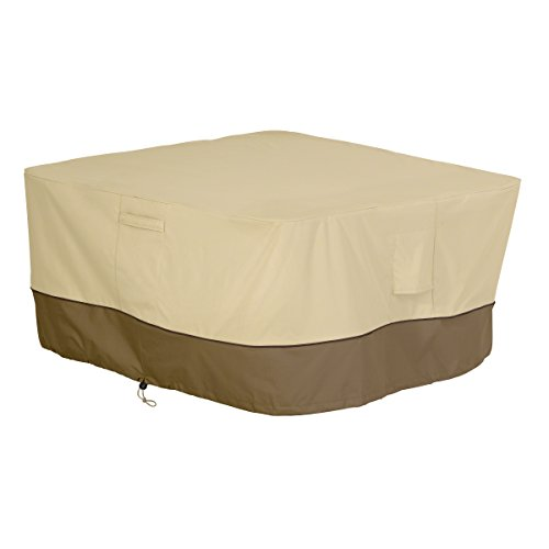 Classic Accessories 55-407-011501-00 Veranda Square Fire Pit/Table Cover, 42-Inch (Grill Cover Patio Veranda)