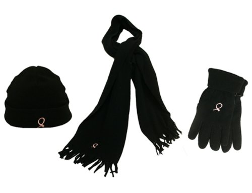 Hope for the Cure Fleece Set Glove/Scarf/Hat, CAP912