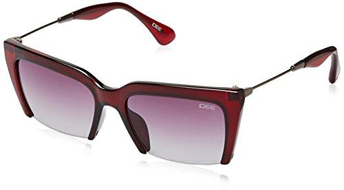 IDEE Gradient Square Women's Sunglasses – (IDS2158C2SG|55|Burgundy Gradient Color)